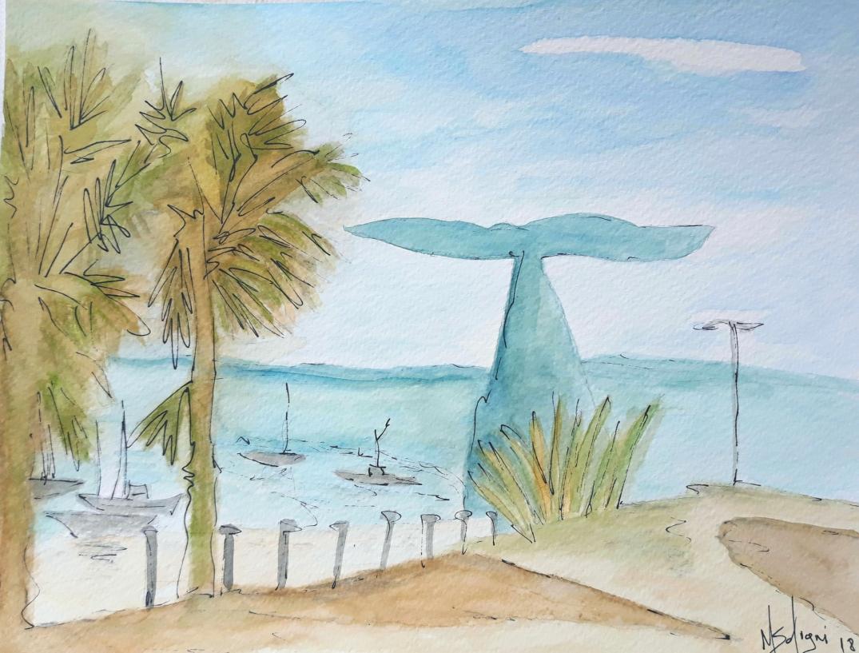 Escultura Cauda da Baleia, marina Oeiras
